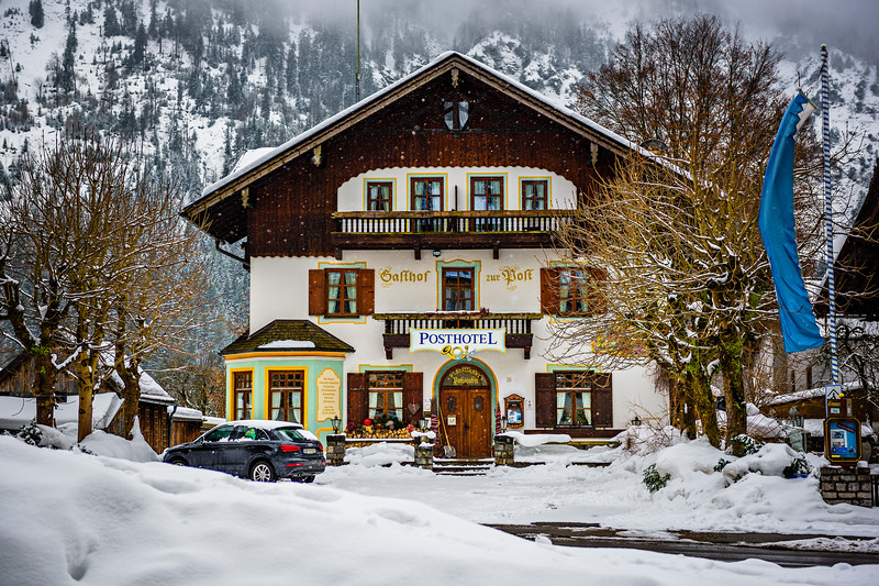 """Bavarian Hotel in Winter"""