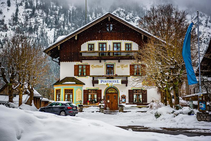 """Bavarian Hotel in Winter"""