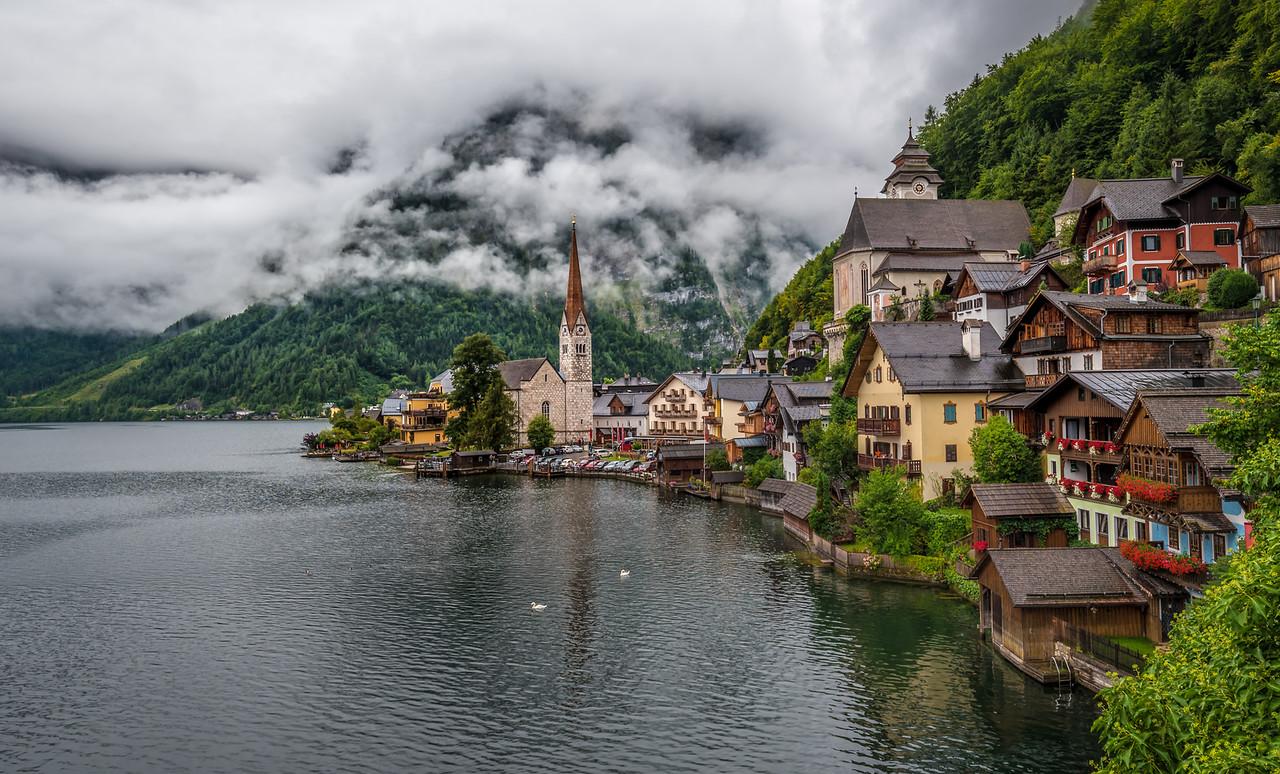 Hallstatt - cloudy morning