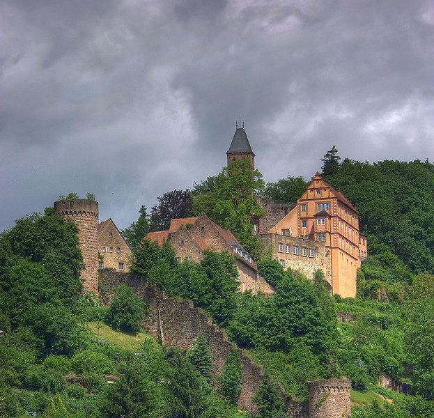 Just down the Nekar river from Heidelburg - raining, as usual.