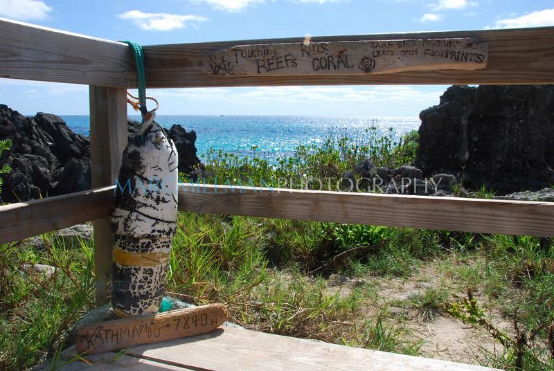 Leave only footprints (Church Bay, Bermuda- Sat 10 110 09)