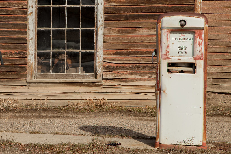 Old Gas Station, Virginia City, Montana