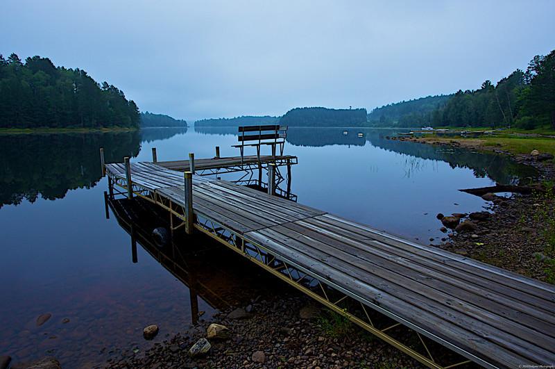Dawn on Wynne Lake at Giants Ridge MN.