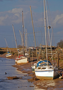 Boats in Wainfleet Haven
