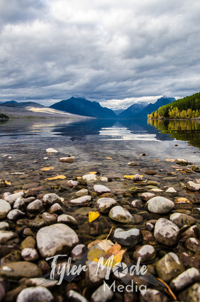 1871  G Lake McDonald and Leaves V
