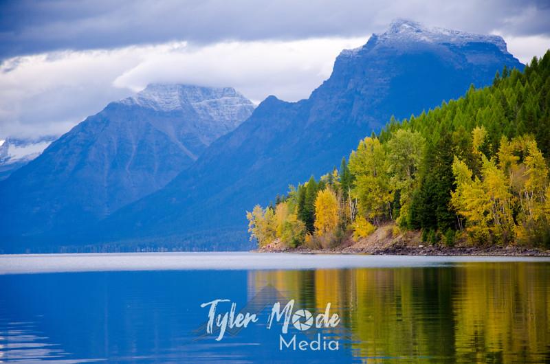 1879  G Lake McDonald and Mountains Close
