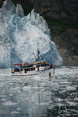 Discovery in front of Surprise Glacier