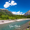 710  G Glacier Blue Skies and River