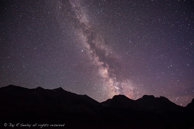 The milky way over Glacier national park.