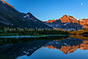 27.  Sunrise And Moonset Over Many Glacier