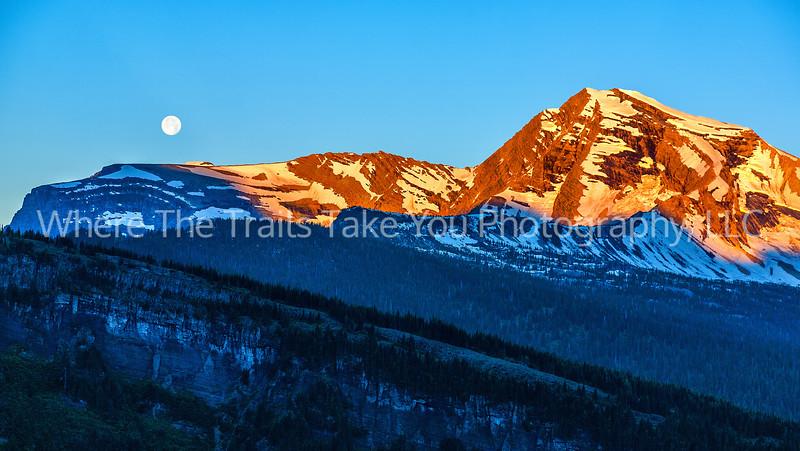 100  Moonset and Sunrise Over Heaven's Peak