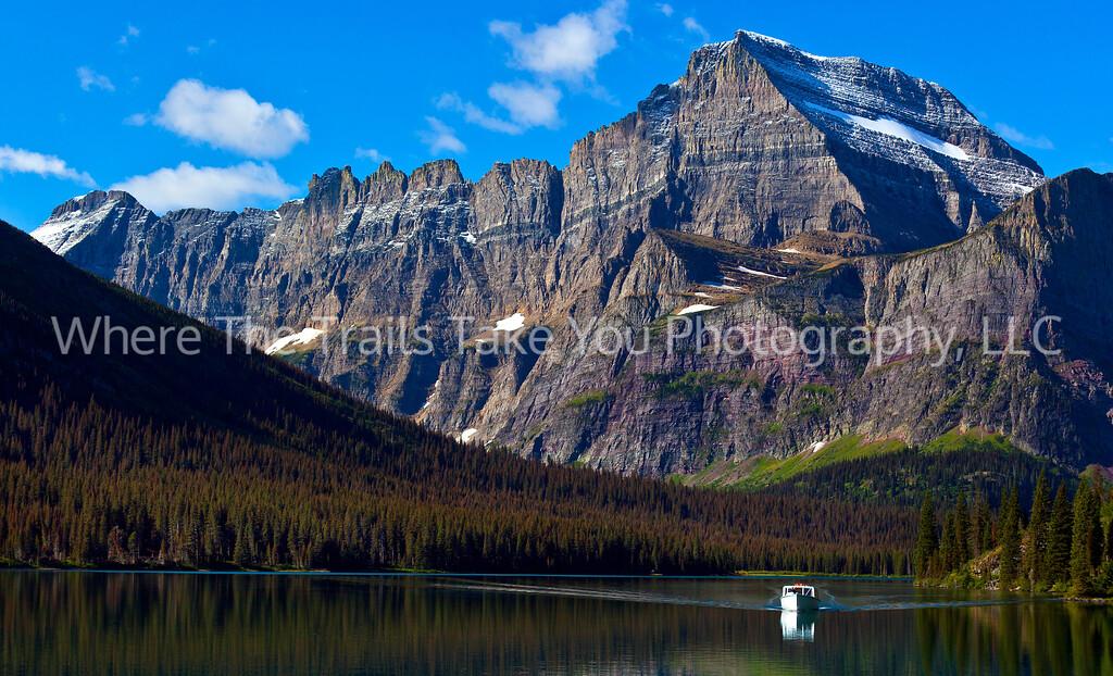 29  Heading Toward the Dock at Lake Josephine in the Many Glacier Area of Glacier National Park, Montana