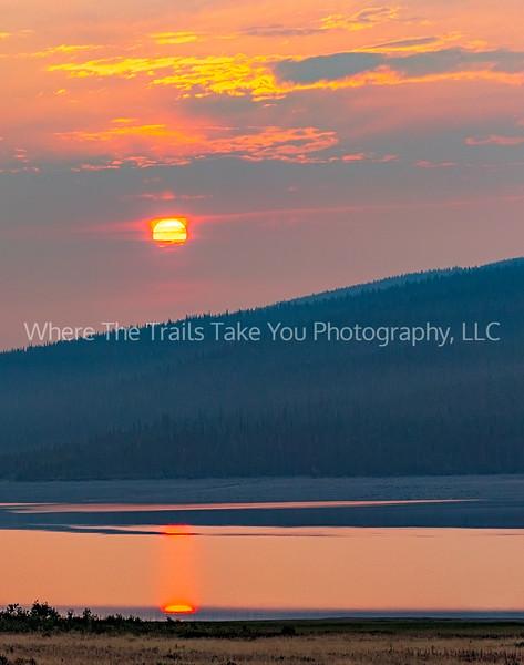 A Smoky Many Glacier Sunrise
