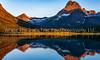 29.  A Golden Summer Morning Over Swiftcurrent Lake