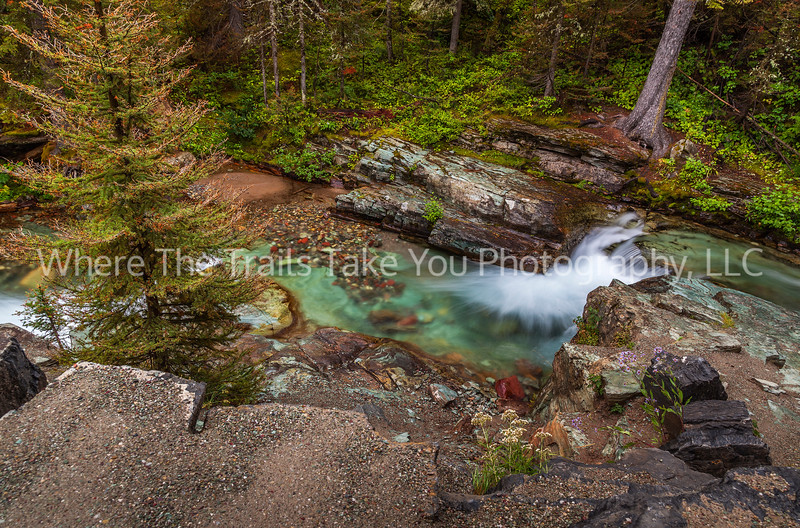 9.  The silky water of Bering Creek