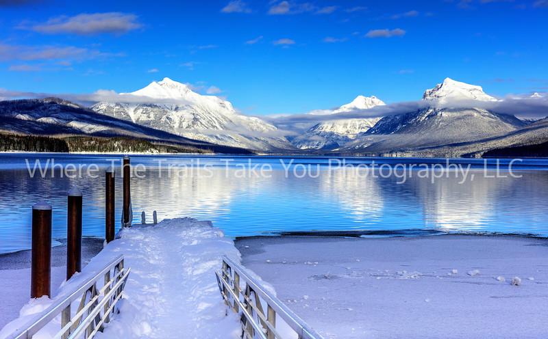 61. Winter's Blanket Over Lake McDonald