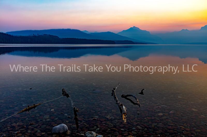 137. A Smoky Sunrise Over Lake McDonald