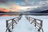 64.  A Winter Sunrise Over Lake McDonald
