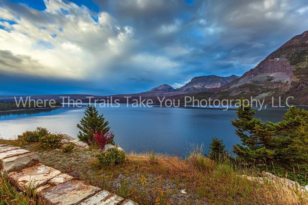 76  Looking Northeast over St. Mary Lake, Glacier National Park, Montana