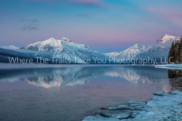 72.  Lake McDonald Winter Blue Hour