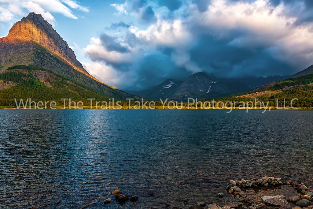 60  Sunrise Clouds Over Mt. Wilbur, Many Glacier area of Glacier National Park, Montana