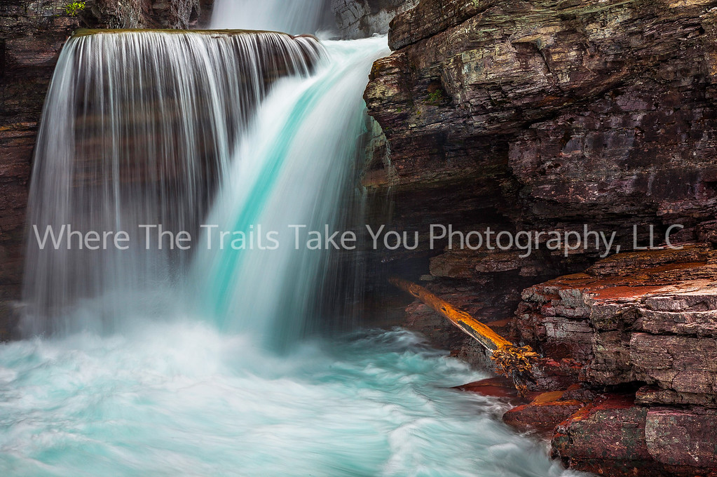 5  The Turquoise Hues of St. Mary Falls, Glacier National Park, Montana