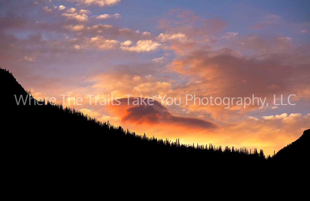 38  Sunset Clouds Over Glacier National Park, Montana