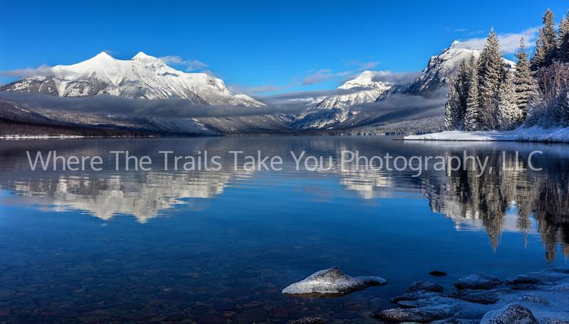 71.  Lake McDonald Winter Reflections