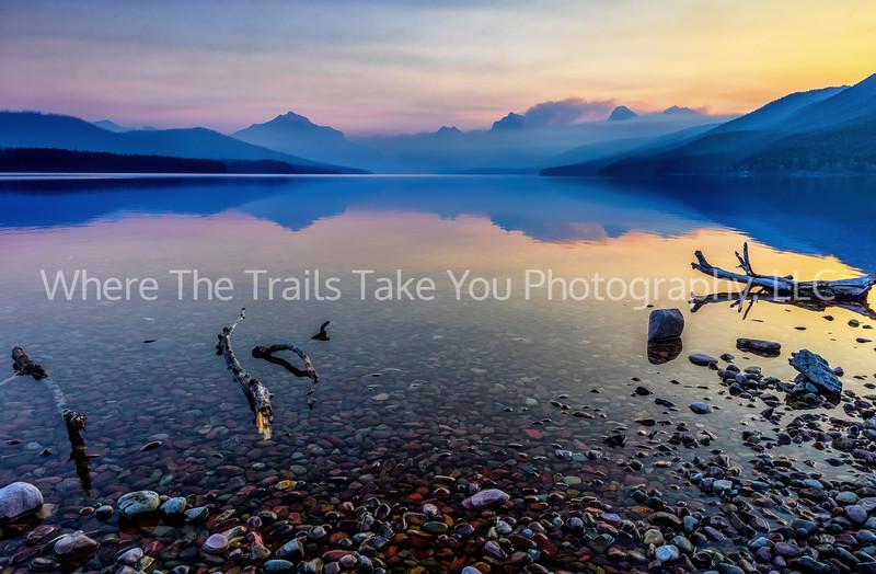 110.  Sunrise On Lake McDonald