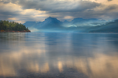 Wildfire Smoldring over Lake McDonald