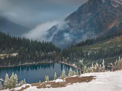 Fog Lifting over Hidden Lake