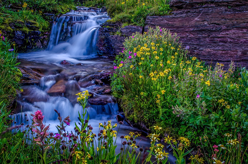 Glacier National Park - Cascades at Logan Pass 2