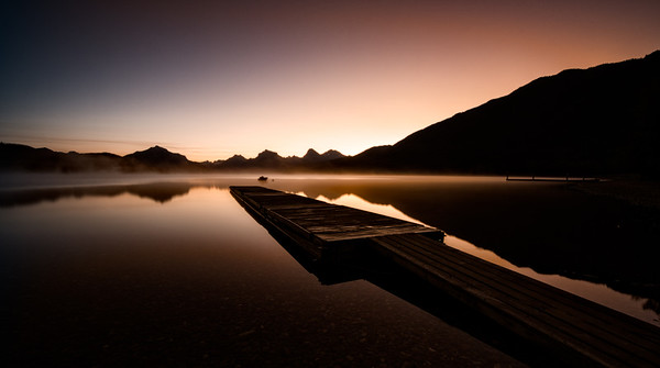 Reflections of a Subdued Glacier National Park Sunrise
