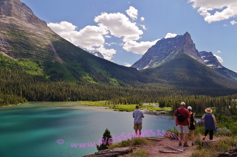 Watching the shadows travel across the landscape.  Saint Mary Lake, Glacier National Park.