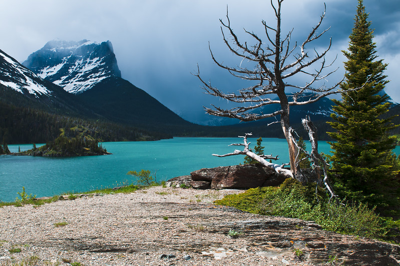 Sun point, St Mary's lake, Glacier National park.