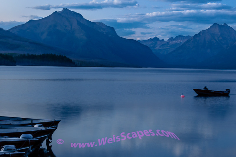 Dusk at Lake McDonald, Glacier National Park