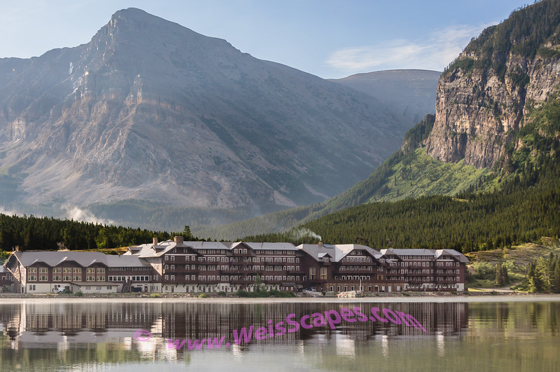 Many Glaciers Hotel on Swiftcurrent Lake.  A truly amazing location for a hotel, Glacier National Park.