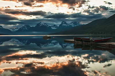 Lake McDonald, Glacier National Park.  Different day.  Sunrise not as spectacular today.
