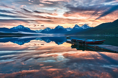 Sunrise, lake Mcdonald, Glacier National Park.  Lake Mcdonald is the largest and deepest lake in Glacier National park. Add a beautiful custom frame for this image here at Fine Art America mcdonald art NOTE:  This image won a honorable mention in the 2011 National Wildlife Photo Contest sponsored by the National Wildlife Federation.