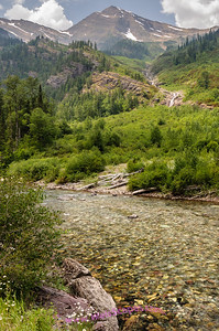 McDonald Creek, just before the Going To The Sun road begins climbing to Logan Pass, Glacier National Park.