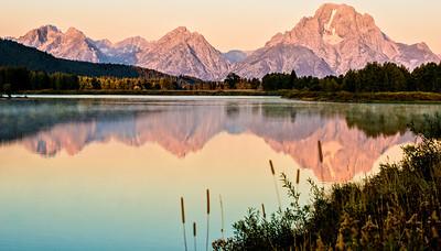 A Pastel Coloured Gran Teton Sunrise