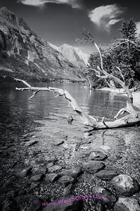 Saint Mary Lake at the Rising Sun picnic area, Glacier National Park.