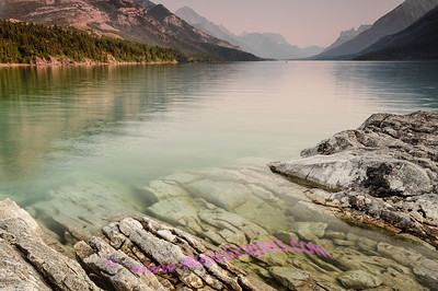 Upper Waterton Lake, Glacier National Park Peace Park, Alberta Canada.