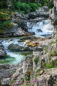 Rapids along the road to Cameron Lake, Waterton Lakes National Park, Alberta Canada.