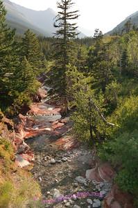 Red Rock Canyon, Waterton Lakes National Park, Alberta Canada.