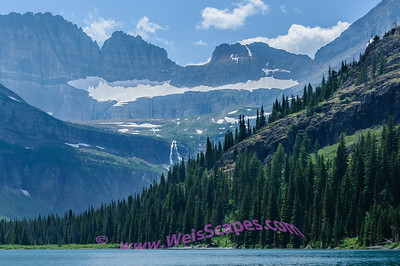 Grinell Glacier, taken from a scenic boat tour on Lake Josephine, Glacier National Park.