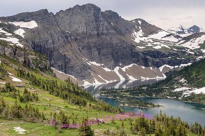 Overlook on the Hidden Lake Trail, Glacier National Park.
