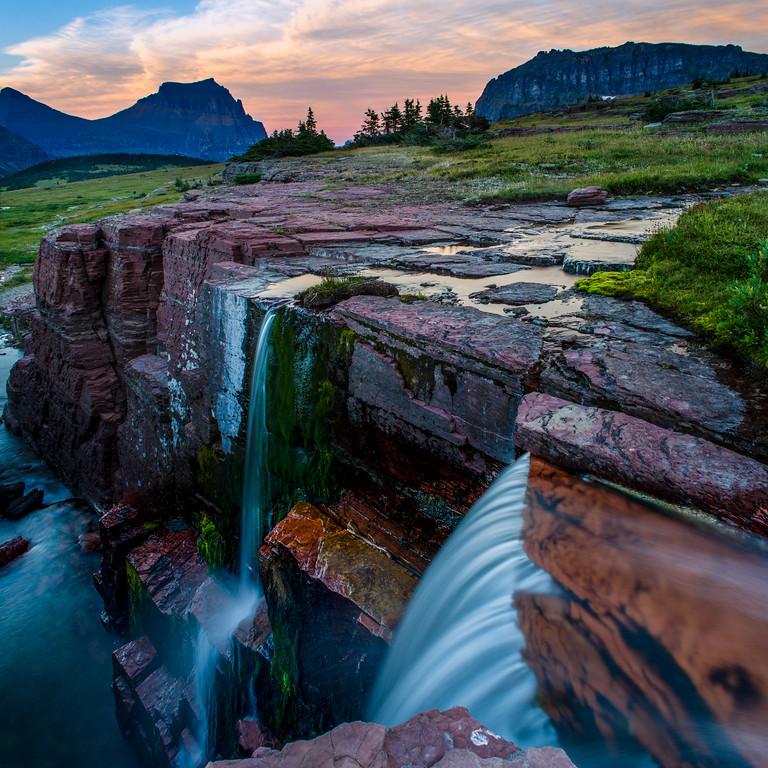 Falls at Logan Pass