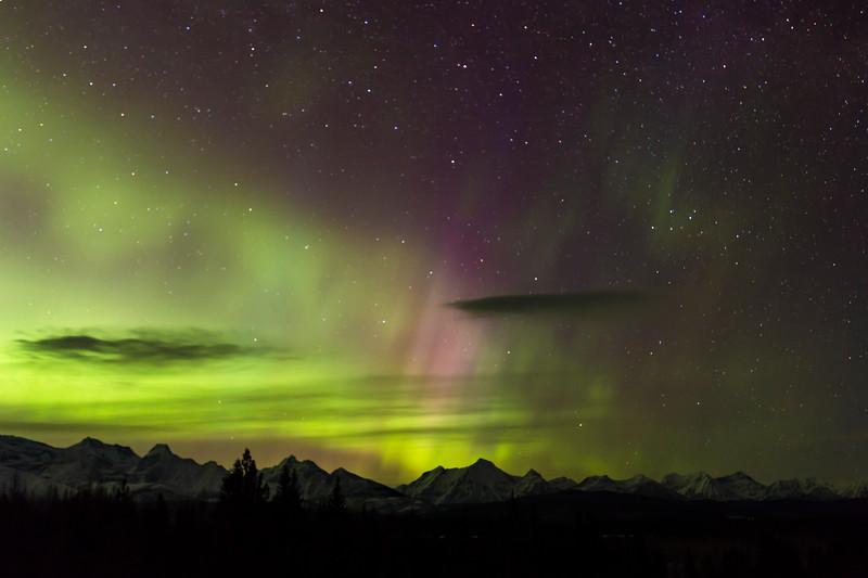 Northern Lights from Schnaus Cabin near Polebridge - II