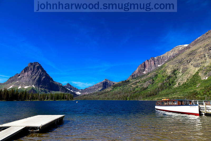Tour boat on Two Medicine Lake in Glacier National Park -2
